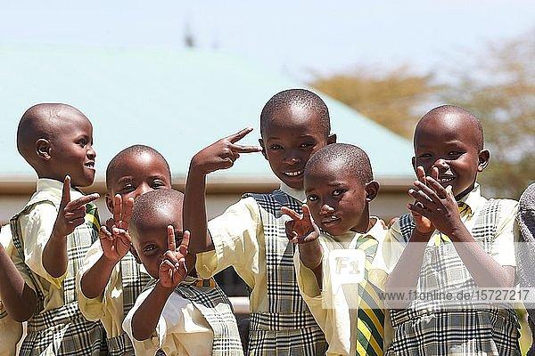 Schüler der Mirisa-Academy  Nakuru  Kenia  Afrika