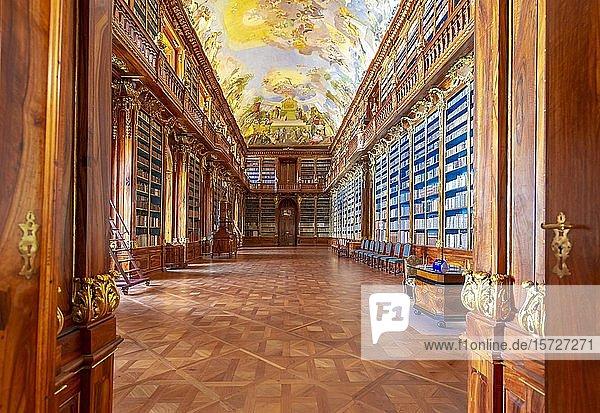 Philosophischer Saal  Strahover Bibliothek  Kloster Strahov  Hradschin  Prag  Tschechien  Europa