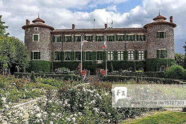 Chavaniac Lafayette castle  native village of Marquis de Lafayette  Haute-Loire department  Auvergne Rhone Alpes  France  Europe