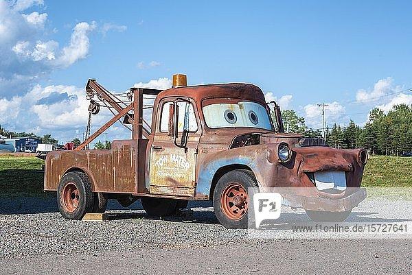 Nachbau der Comicfigur Hook or Mater aus dem Animationsfilm Cars  Prince Edward Island  Kanada  Nordamerika