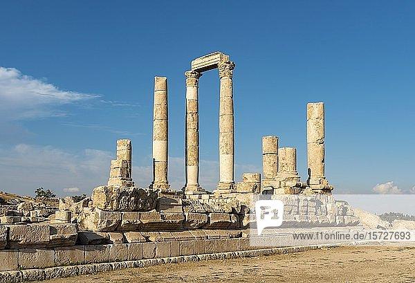 Herkulestempel  Zitadelle von Amman  Jordanien  Asien