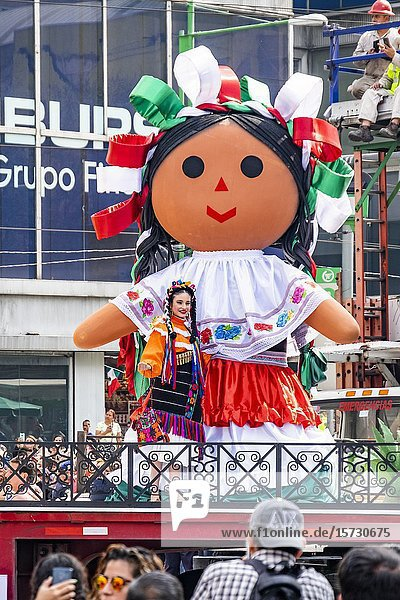 Revolution Day Memorial Parade celebrating the revolutionary heroes who ended the struggle and helped to reform Mexico  Mexico City  Federal District  Mexico.