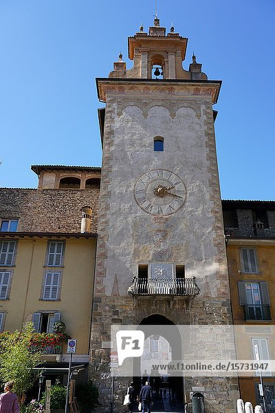 The Citadel tower entrance  Bergamo  Lombardia  Italy  Europe.