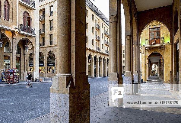 El Omari Mosque street  Downtown  Beirut  Lebanon.