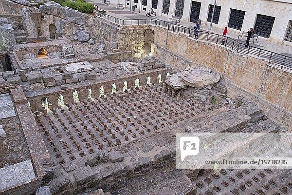 Roman baths  Downtown  Beirut  Lebanon.
