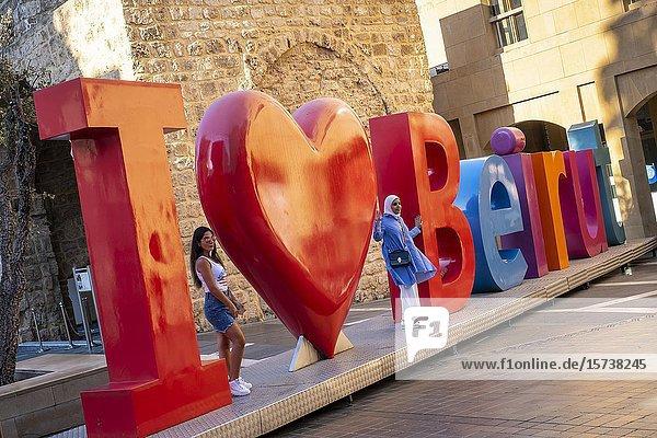 Sculpture in Waygand street  in Beirut Souks  Downtown  Beirut  Lebanon.