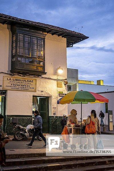 11 street  Candelaria neighborhood  Bogotá  Colombia.