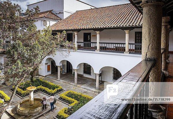 Courtyard of Museo Casa de Moneda or Casa de la Moneda museum  Bogota  Colombia.