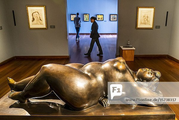 `Venus Dormida' by Fernando Botero  Botero Museum  Bogota  Colombia.