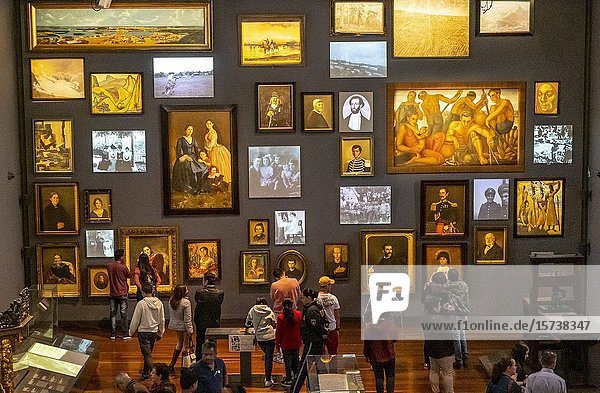 Memory and nation hall  National Museum of Colombia  Bogota  Colombia.