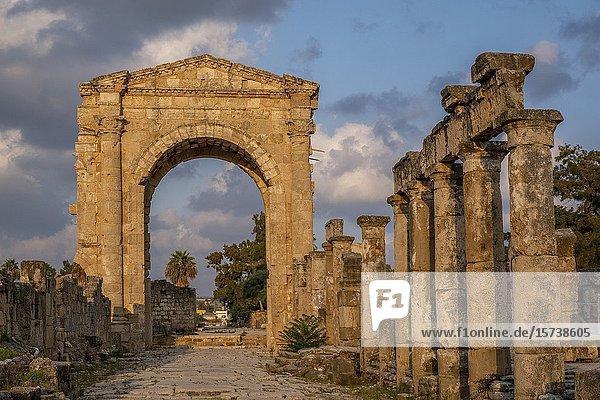 Triumphal arc  in Al-Bass archaeological site  Tyre (Sour)  Lebanon.