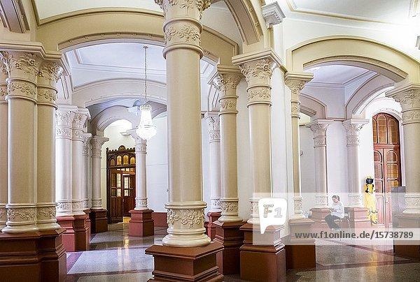 Interior of Palacio de la cultura  Rafael Uribe Uribe  Palace of Culture  Medellín  Colombia.