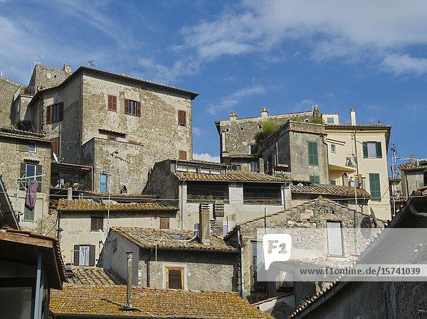 View of village of Anguillara-Sabazia  Lake Bracciano  Italy.