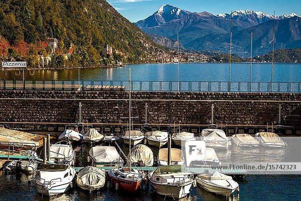 Morning light Argegno Lake Como.