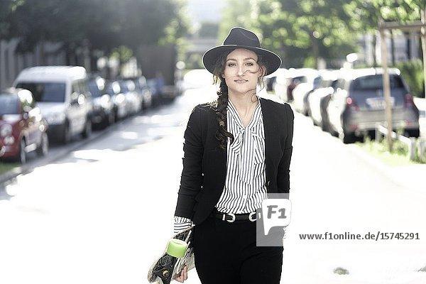 Woman wearing hat. Munich  Germany.