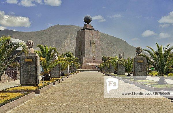 The Monument to the Equator  Ciudad Mitad del Mundo (Middle of the World City). Pichincha  Ecuador.