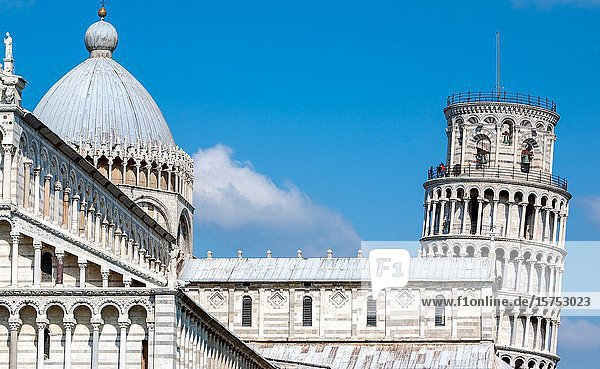 The Leaning Tower of Pisa Tuscany Italy.