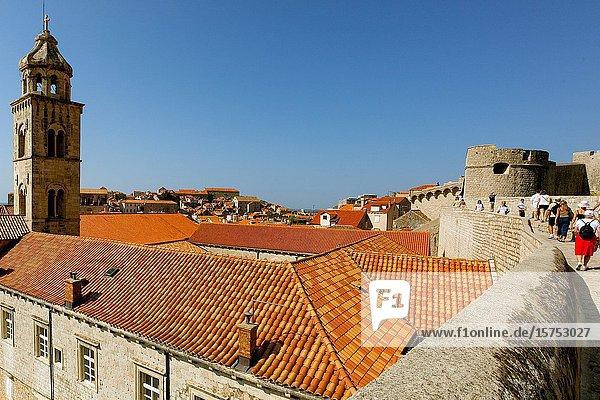 Terracotta rooftops Dubrovnik. Roof tops of Dubrovnik Croatia.