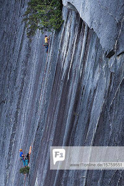 Trad-Klettern  Squamish  Britisch-Kolumbien  Kanada