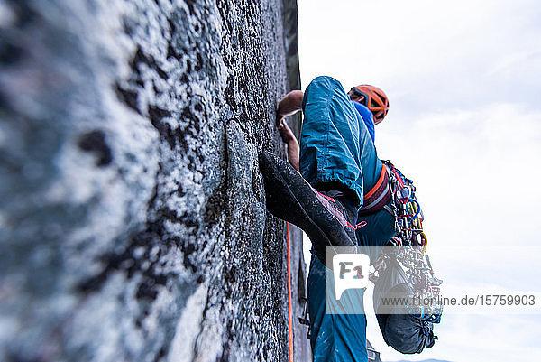 Trad-Klettern  Stawamus Chief  Squamish  Britisch-Kolumbien  Kanada