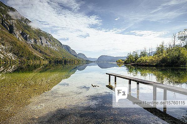 Lake Bohinj  Triglav National Park  Upper Carniola  Slovenia