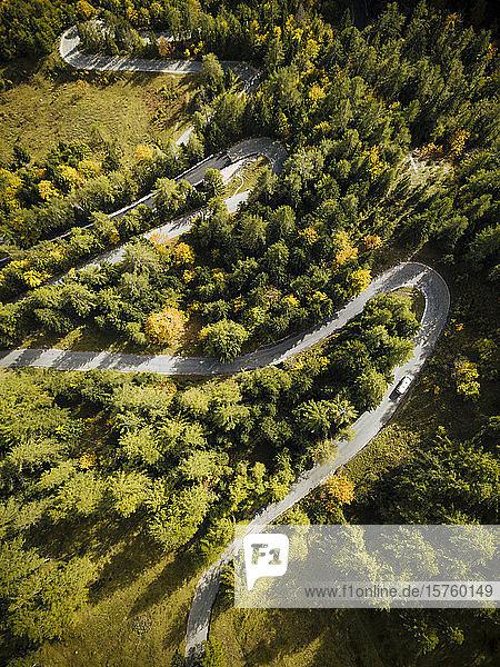 Aerial view of Vrsic Pass  Julian Alps  Triglav National Park  Upper Carniola  Slovenia