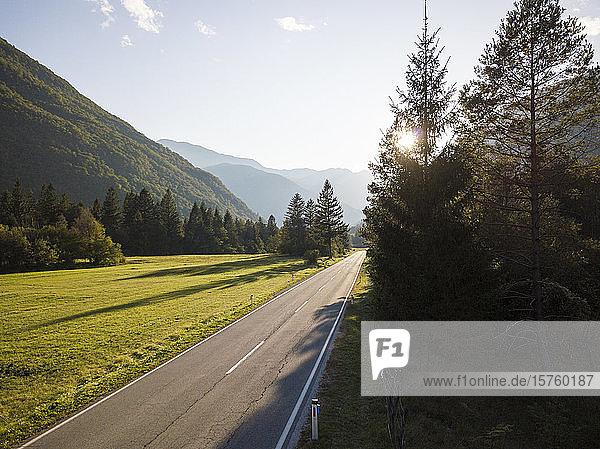 Highway  Triglav National Park  Upper Carniola  Slovenia