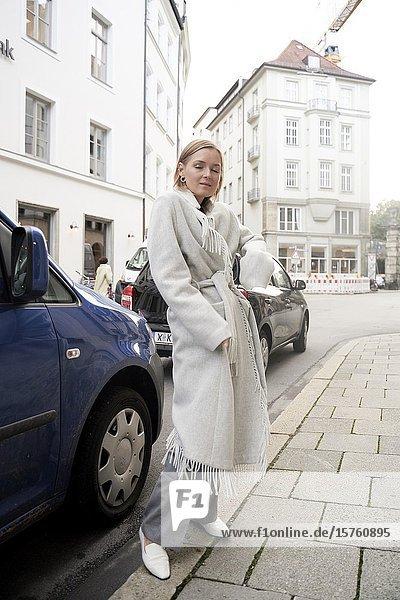 Fashionable woman. Munich  Germany.