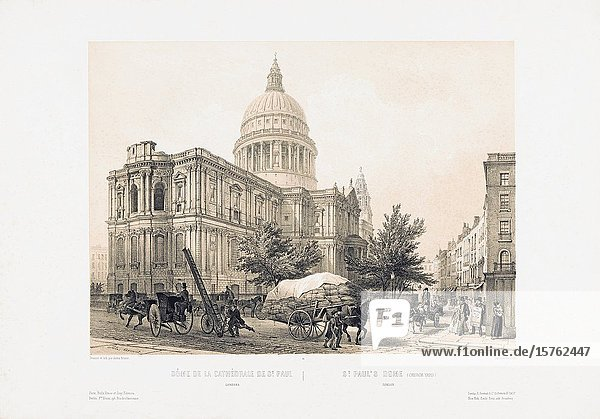 St. Paul's Cathedral  London  England. After a work dating from the 1850's by Louis Jules Arnout.