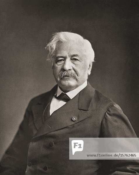 Ferdinand de Lesseps. Ferdinand Marie  Vicomte de Lesseps  1805-1894. French diplomat and developer of the Suez Canal. After a 19th century photograph by Felix Nadar.