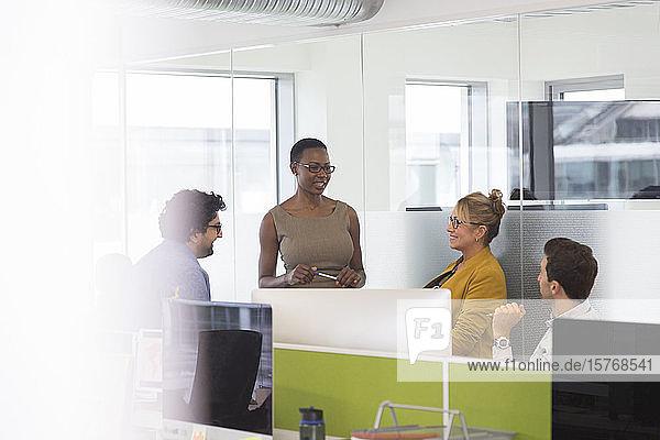 Business people talking  meeting in office Business people talking, meeting in office