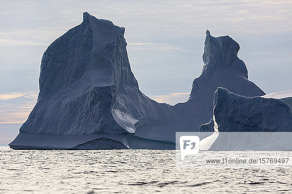 Majestic iceberg formations Atlantic Ocean Greenland