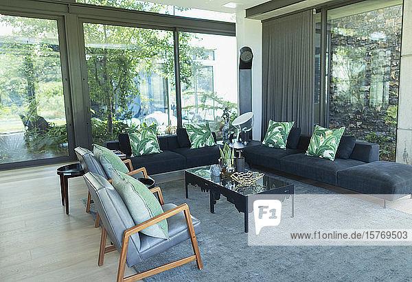 Modern luxury home showcase interior living room