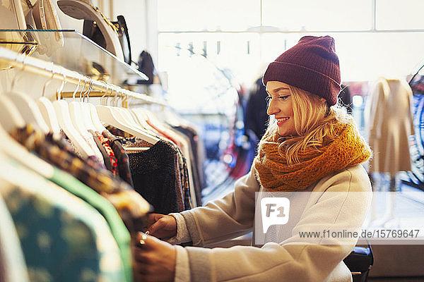 Young woman clothing shopping