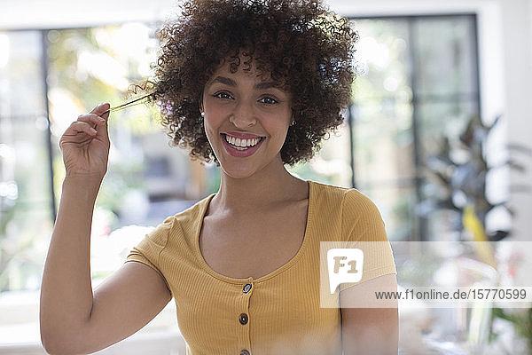 Portrait happy young woman