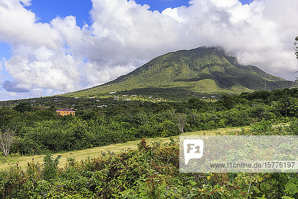 Nevis Peak  Mount Nevis  volcano  Nevis  St. Kitts and Nevis  West Indies  Caribbean  Central America
