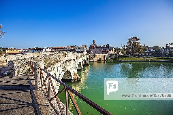 The Bridge of Tiberius  Rimini  Emilia Romagna  Italy  Europe