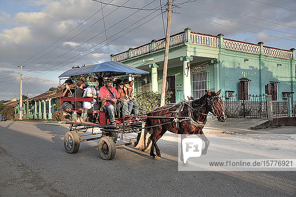 Horse Carriage Taxi  Vinales  Cuba  West Indies  Caribbean  Central America