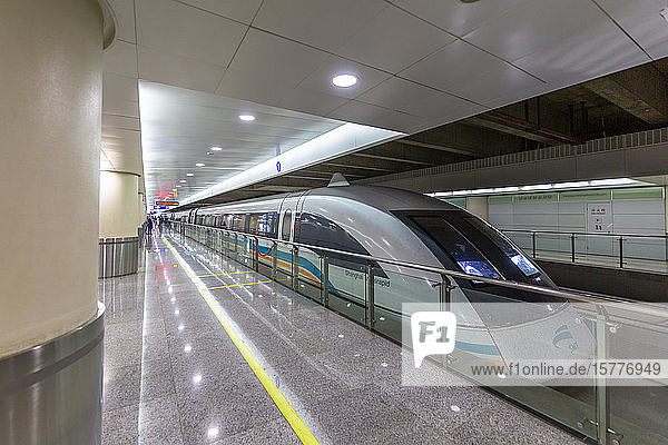 Shanghai Transrapid train  Fastest Train in the World  Shanghai  China  Asia