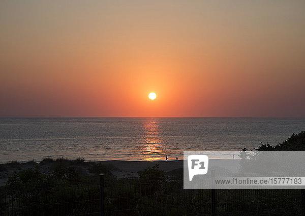 Sonnenuntergang an der Costa de la Luz  Spanien