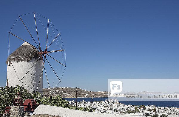 Windmill in Mykonos  Greece