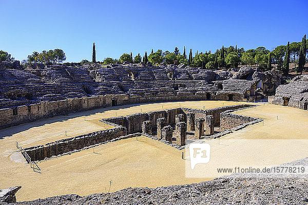 Roman ruins of Italica in Santiponce  Spain