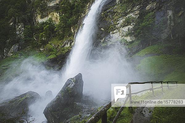 Waterfall in Foroglio  Switzerland