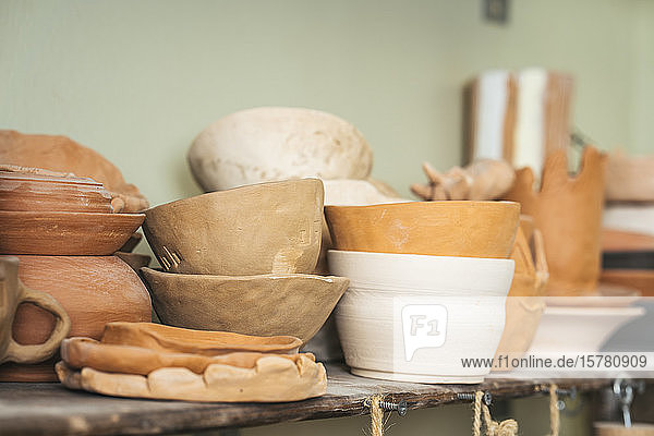 Assortment of products in a pottery