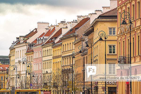Häuserzeile in der Altstadt  Warschau  Polen