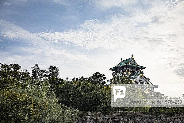Japan  Osaka  Außenansicht der Burg