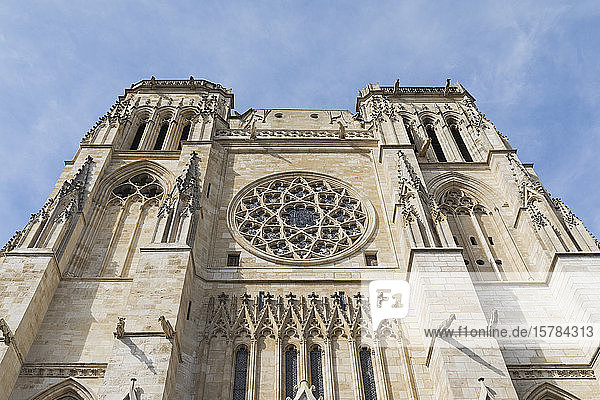 France  Gironde  Bordeaux  Low angle view of south facade of Bordeaux Cathedral