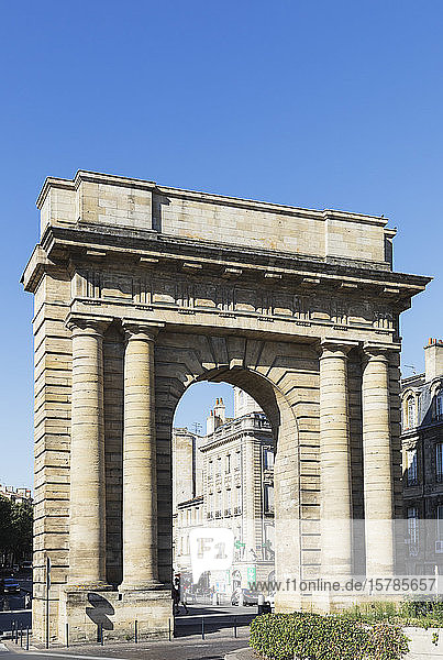 France  Gironde  Bordeaux  Clear sky over Gate of Burgundy