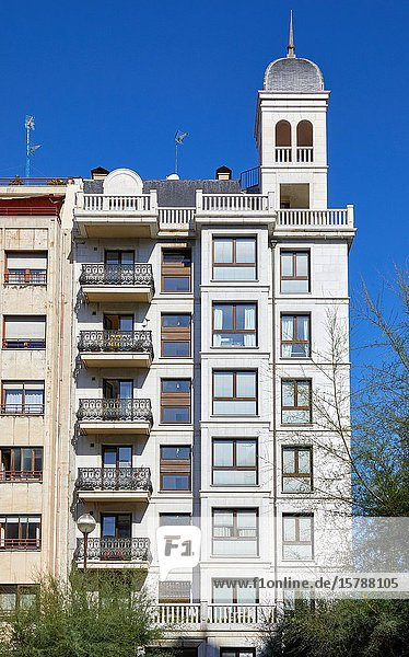 Apartment building  Zubieta Street  Donostia  San Sebastian  Gipuzkoa  Basque Country  Spain  Europe