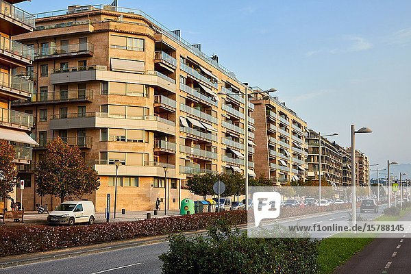 Apartment building  Riberas de Loiola  Donostia  San Sebastian  Gipuzkoa  Basque Country  Spain  Europe